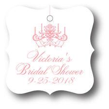 24 Elegant Chandelier Personalized Bridal Shower Favor Tag