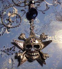 Large Skull Rhinestone Ceiling Fan Pull~Hook on Chain Fan/Lamp/Auto Mirror~