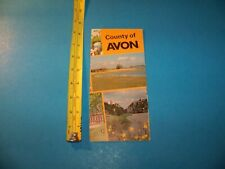 County Of Avon  Brochure & Map  Vintage Travel Memorabilia