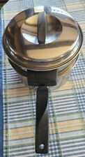 """Vtg Flint Stainless Radiant Heat  Ekco USA 2 Qt, #260, 3 pc, 7"""" Double Boiler"""