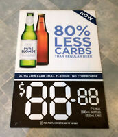 Pure Blonde Beer Advertising Corflute Double Sided Display Sign