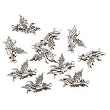 8pcs pheonix bird Tibetan Silver Bead charms Pendants fit bracelet 35*30mm