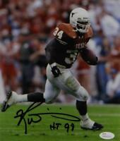 Ricky Williams Autographed Texas Longhorns 8x10 Running Photo W/ HT- JSA W Auth