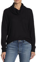 Socialite Womens Funnel Neck Waffle Long Sleeve Pullover Black Size XS
