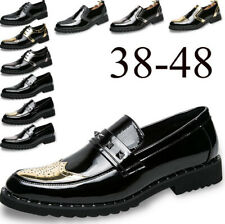 Men's Wing Tip Dress Formal Wedding Shoes Leather Brogue Oxfords Casual Loafers