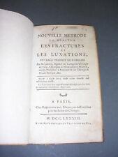 Médecine Orthopédie XVIII° Pott fractures et luxations 1783 gravures