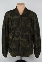 SuperDry Japan Men's 2XL Rookie Duty Camo Military Lined Bomber Jacket