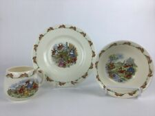 Set Of 3 Royal Doulton England Fine Bone China Bunnykins Cereal Bowl Plate Cup
