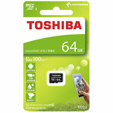 Toshiba 64GB TF Card Tarjeta de memoria Clase 10 M203  Micro SD SDXC 100Mb/s