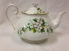 Royal Albert White Dogwood Full Sized Large Tea Pot Teapot EUC