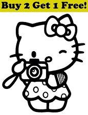 Hello Kitty Shutterbug Decal Sticker Car Bumper Window Cute Cat Photographer