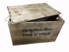 Extra Large Toybox Personalised Wooden Crate Storage Box w/lid for toys & more