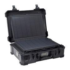 Solar portable tactical generator 16Ah batt AC inverter 120V camping waterproof