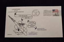 DRW NAVAL COVER #89A LAUNCHING USS SAN JUAN (SSN-751) 1986 MACHINE CANCEL