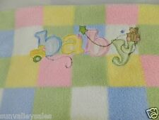 Parents Choice Pastel Baby Duck Bear Pink Green Blue Yellow White Squares