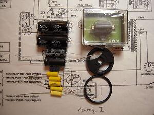 Kit complet pour restauration electrophone,tourne disque Teppaz Oscar Senior