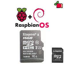 Raspbian Jessie preinstallato 16gb Class 10 SD CARD precaricato per Raspberry Pi