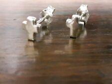 Dainty sterling silver crucific ear studs