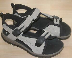 BNIB Mens Clarks Stone/Black Suede Sandals Beachwear Size 10G Eu 44
