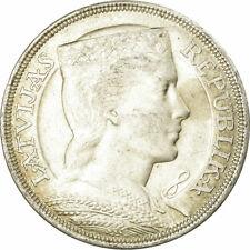 [#657877] Coin, Latvia, 5 Lati, 1929, AU, Silver, KM:9