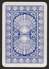 1 SINGLE VINTAGE PLAYING SWAP CARD OLD WIDE REVERSIBLE SEA SHELLS BLUE WHITE