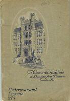 1920s Brooks Picken Woman's Institute Sewing Book 10 A-2 Underwear & Lingerie