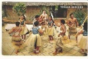 Tonga: 1966; Tonga Dancers costumes backgraund + native dancers EBTO015