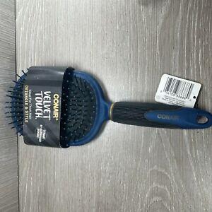 Conair Velvet Touch XL Paddle Detangle & Tangle Hair Brush Blue/Black