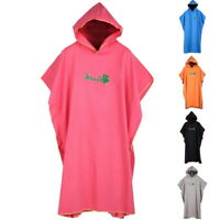 Colourful Hooded Poncho Towel Changing Robe Beach Towel  Kitesurf Swim UK