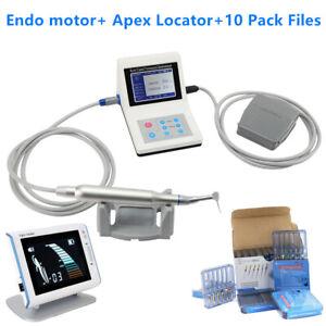 Reciprocating Dental Endo Motor + Apex Locator 10 pack 21mm Endodontic Files