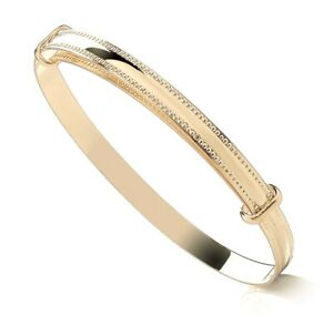 9ct Gold Expanding Baby Bangle -  NEW ~ Gift Boxed