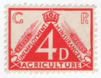 (I.B) George V Revenue : Agricultural Unemployment 4d