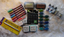 Rubber Stamp Ink Supplies~Markers~Refills~ Pigment Brush Pads. New unless stated