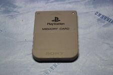 Original Sony PlayStation 1 Speicherkarte Grau Memorycard guter Zustand