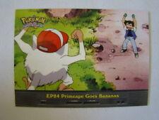 Primeape Goes Bananas 2000 Topps Pokemon Series 2 Episode Card EP24 Mint