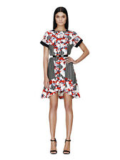 NEUF PETER PILOTTO for Target Fleurs Floral Graphic Print Dress robe Date Rouge