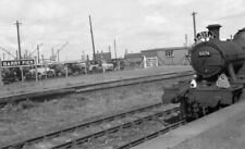 PHOTO  GWR BARRY PIER RAILWAY STATION LOCO NO 5574 ON A SLS SPECIAL