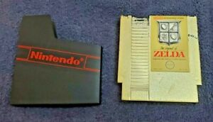 The Legend of Zelda Nintendo Original Gold Cartridge NES-ZL871104 1985 Tested