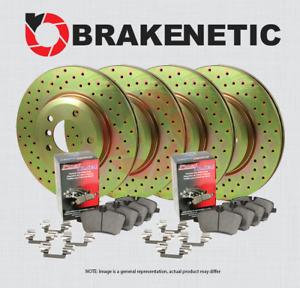 [F&R] BRAKENETIC SPORT DRILLED Brake Rotors +POSI QUIET Ceramic Pads BSK95733