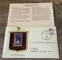 Historic Stamps of America NEW YORK WORLD'S FAIR Commemorative Stamp