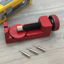 Watch Band Strap Link Pin Remover Repair Tool Kit for Watchmakers W 3 Pins Red