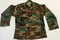 US Military Issue BDU Men's Jacket Shirt Size Small Regular With Patches