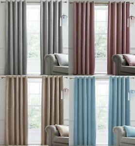 Montrose Blackout Velvet Luxury Eyelet Curtains. Choice of Colour and Sizes