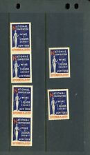 6 Vintage 1934 Wine & Liquor Exhibit Poster Stamps (L970) New York