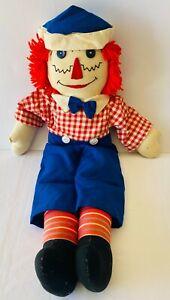 RAGGEDY ANDY Large Vintage Soft Plush Toy Cloth Rag 80s Doll 61cm FREE POST