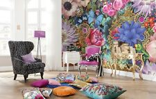 368x254cm Wall Mural photo Wallpaper Abstract flowers motif - composition decor