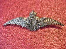 ORIGINAL WWII RCAF BIRKS ELLIS STERLING SWEETHEART WINGS PIN