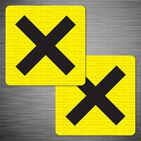 Novice Driver Cross MSA Style Sports Car Racing Sticker Decal Yellow  - SKU4002