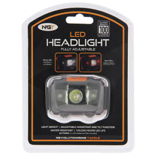 NGT LED HEAD LIGHT TORCH LAMP FISHING HUNTING LIGHT WHITE AND RED 100 Lumens