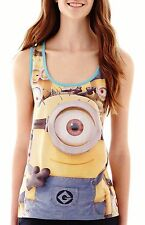 Despicable Me Minions Women's Yellow Tank Top T-Shirt - Juniors XL - New w/Tags!